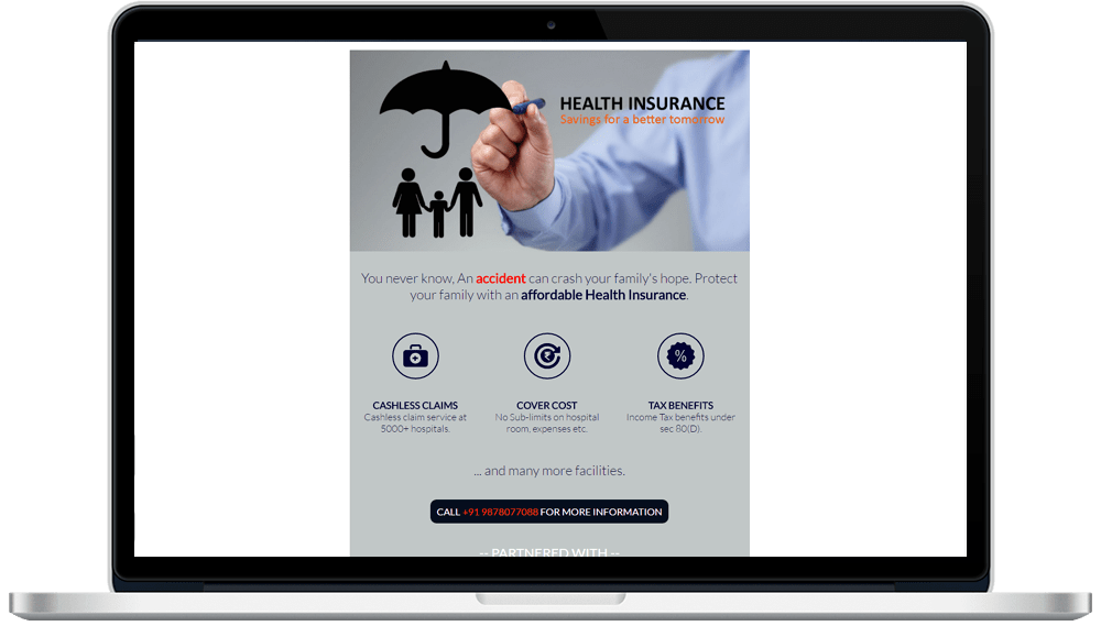 Insurance HTML Mailer Designing