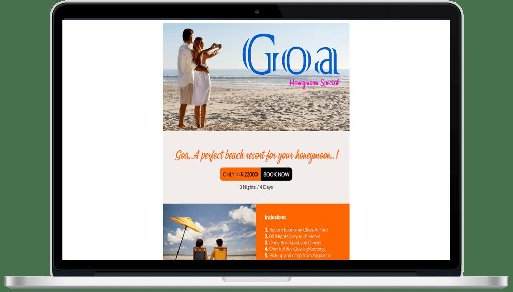 Tour Travel HTML Mailer Designing