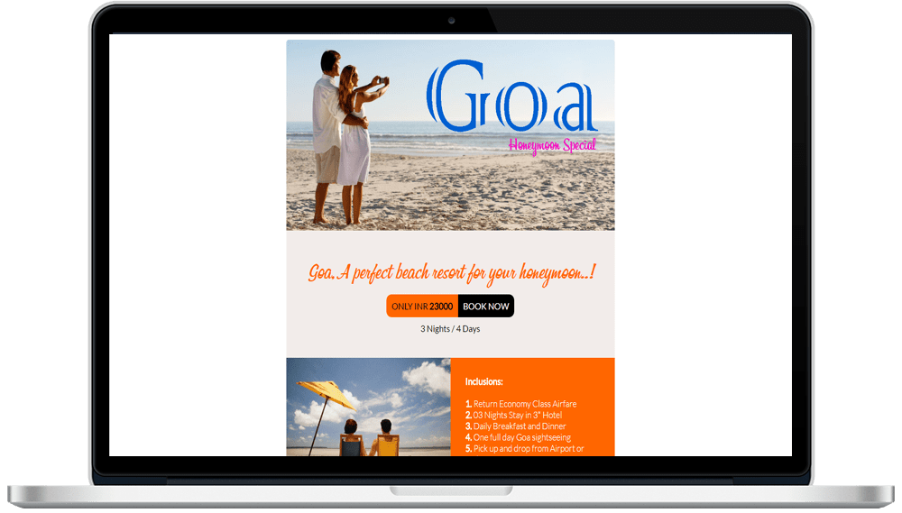 Tour Travel HTML Mailer Designing