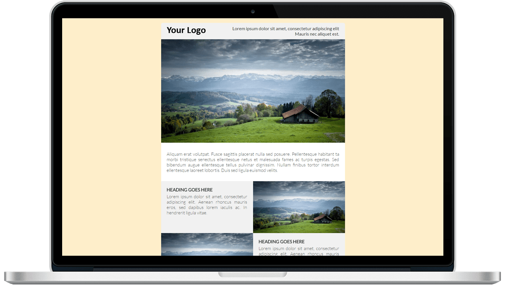 Background Color Responsive HTML Email Template