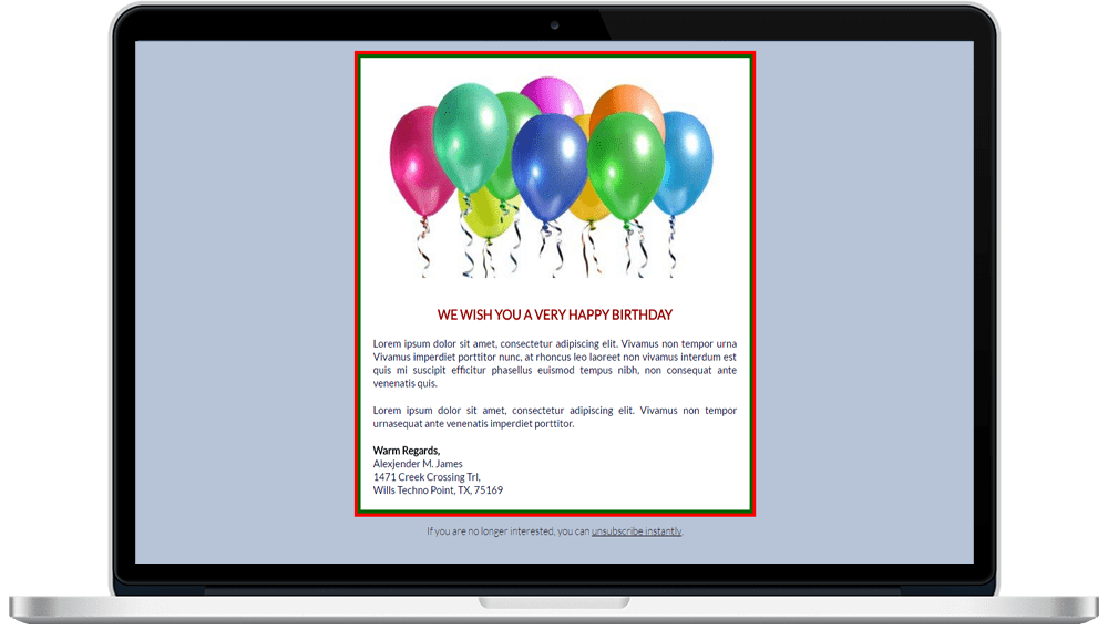 Birthday Responsive HTML Email Template