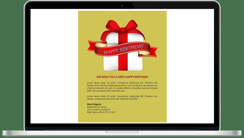 Birthday Responsive HTML Mailer Template